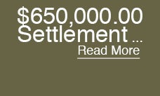 675,000.00 Settlement Motor Vehicle Accident